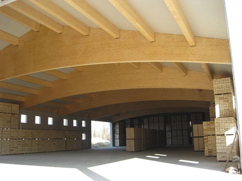 Realizzazioni coperture industriali in legno per capannoni for Lucernari per tetti in legno