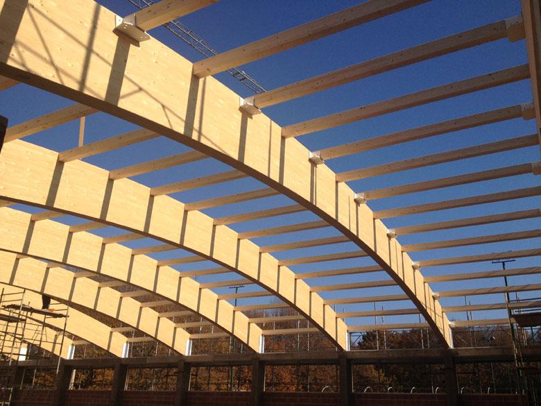 Copertura In Legno Lamellare : Realizzazione coperture curve in legno veneta tetti
