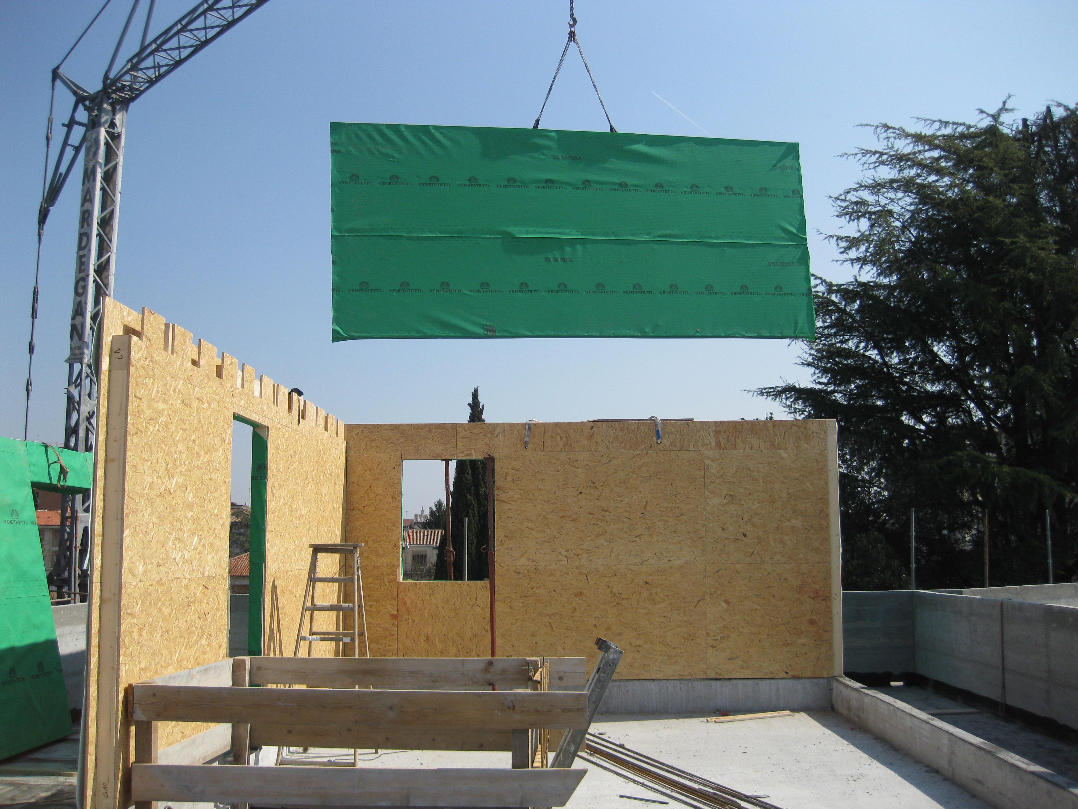 Realizzazione sopraelevazione in legno veneta tetti